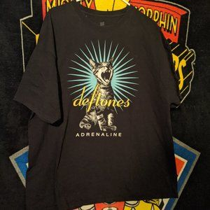 Deftones Adrenaline Cat black t-shirt sz 2XL